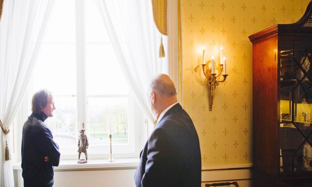 5ff5ec4a Han foreslo selv å møte en selger da han skulle intervjues på Slottet.  Christer Modin ble med, og taxisjåføren trodde ikke på ham da han sa hvor han  skulle.